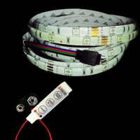 5050 RGB LED strip with controller 9V battery connector