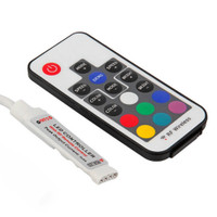RGB LED controller with 17-key RF remote