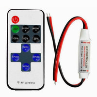 LED controller for single color LED strip with 11-key remote