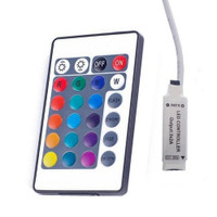 RGB LED controller with 24-key IR remote