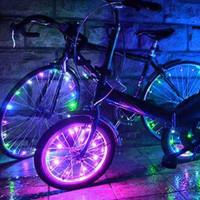 Bicycle spoke light bike wheel LED string