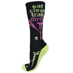 Eat Clean Train Dirty Knee High Sock