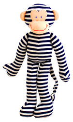 Monkey Rattle - Navy Stripe (30cm)