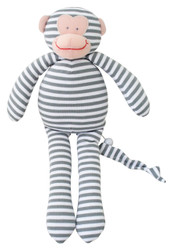 Musical Monkey - 34cm Grey Stripe 'Let It Be'