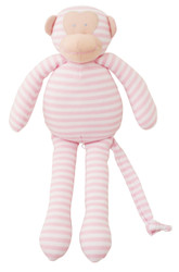 Musical Monkey - 34cm  Pink Stripe 'Let It Be'