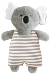 Koala Toy Rattle 23cm - Stripe Grey