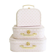 Kids Carry Case Set - Pink Gold