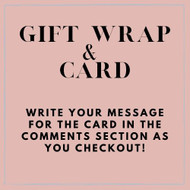 ** Gift Wrapping & Card **