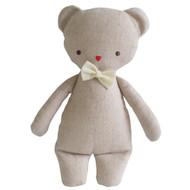Linen Mini Rattle 18cm Bear