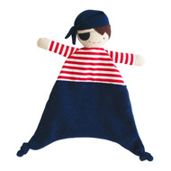 Linen Pirate Comforter Navy & Red