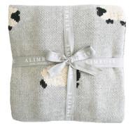 Baa Baa Blanket Organic Cotton - Grey 100cm x 70cm