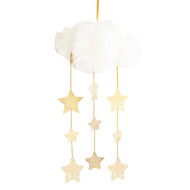 Tulle Cloud Mobile - Ivory & Gold