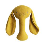 Bobby Bunny Stick Rattle Butterscotch Linen