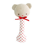 Baby Bear Stick Rattle Red Spot