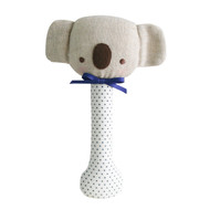 Baby Koala Stick Rattle Navy Spot