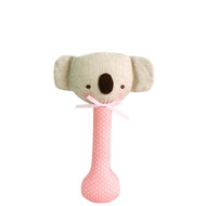 Baby Koala Stick Rattle Pink with White Spot