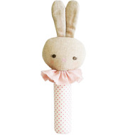 Roberta Bunny Squeaker Spot Pink