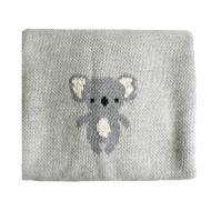 Organic Cotton Koala Baby Blanket - Grey