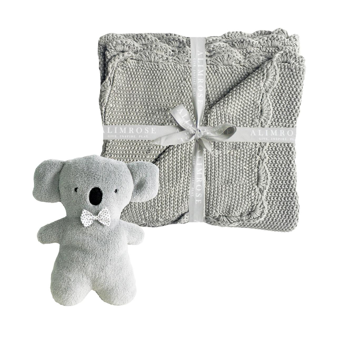 562769094 Little Koala Blanket Set - Grey - Alimrose