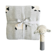 Little Baa Baa Blanket Set - Grey