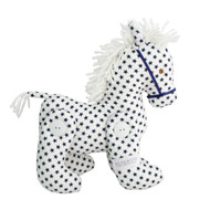 Jointed Pony White Navy Star