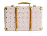 Vintage Style Carry Case - Pink Gold Spot