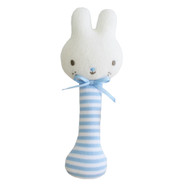 Baby Bunny Stick Rattle Blue