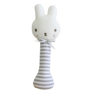 Baby Bunny Stick Rattle Grey