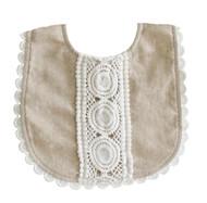 Olivia Bib Natural Linen