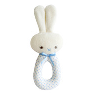 Bunny Grab Rattle Spot Blue