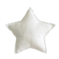 Linen Star Pillow 40cm Ivory