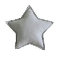 Linen Star Pillow 40cm Grey