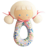 Audrey Grab Rattle 16cm Liberty Blue