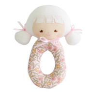 Audrey Grab Rattle Blossom Lily Pink