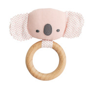 Baby Koala Teether Rattle Pink