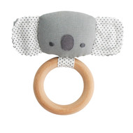Baby Koala Teether Rattle Grey
