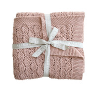 Organic Heritage Knit Baby Blanket - Blossom