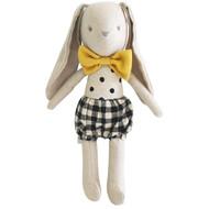 Baby Boy Bunny 26cm Black Check