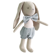Baby Boy Bunny 26cm Grey Red