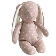 Floppy Bunny Linen 25cm Mauve Spot