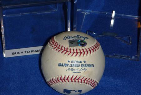 MILWAUKEE BREWERS CHICAGO CUBS 2008 WIN GAME USED GU MAJOR LEAGUE BASEBALL BALL MLB HOLOGRAM ARAMIS RAMIREZ