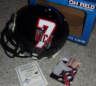 Michael Mike Vick signed Authentic PRO LINE Atlanta Falcons Helmet  Michael Vick full size helmet logo on left side