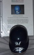 RYAN BRAUN ROOKIE YEAR SIGNED MILWAUKEE BREWERS BASEBALL MINI HELMET AUTOGRAPHED