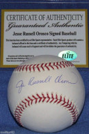 Jesse Russell Orosco hand-signed  full name signature  Official Major League Baseball OML  with Elite Sports Marketing  matching hologram authentication!