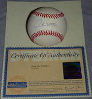 MILWAUKEE BREWERS TWINS BLUE JAYS PAUL LEO MOLITOR AUTOGRAPHED BASEBALL STEINER COA Hologram