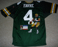 GREEN BAY PACKERS BRETT FAVRE AUTOGRAPHED SIGNED PAINTED WILSON JERSEY PSA DNA COA and Hologram