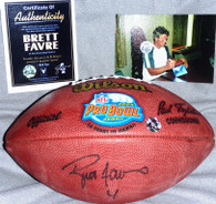 GREEN BAY PACKERS BRETT FAVRE 4 AUTOGRAPHED 2004 PRO BOWL ALL STAR FOOTBALL COA