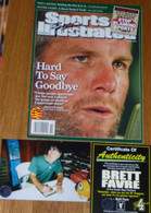 GREEN BAY PACKERS BRETT FAVRE SIGNED Hard to say Goodbye SI SPORTS ILLUSTRATED COA
