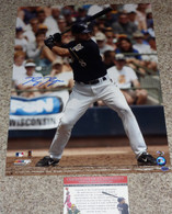 Ryan Braun hand-signed  16x20 Batting Stance photo   with his exclusive early career signing  agent - Mikita Sports Hologram  plus Wisconsin exclusive distributor  Legends of the Field  Hologram  and  Authentic COA!