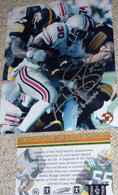 Abdul Hodge 52 Autographed Hitman Inscribed Iowa Hawkeyes 8x10 PHOTO COA HOLO
